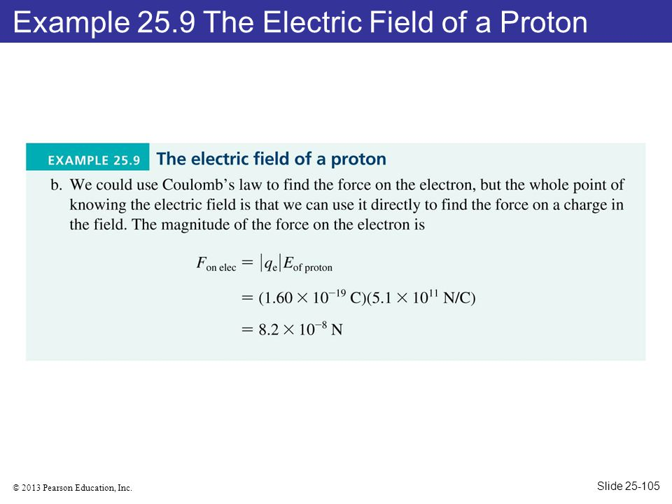 Example 25.9 The Electric Field of a Proton