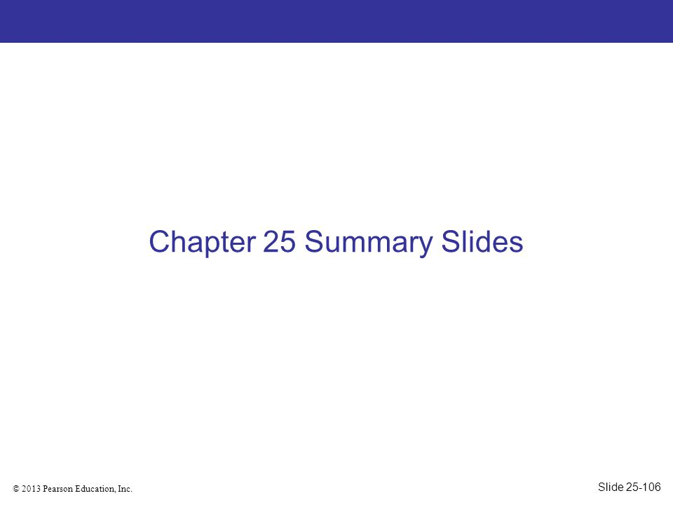 Chapter 25 Summary Slides