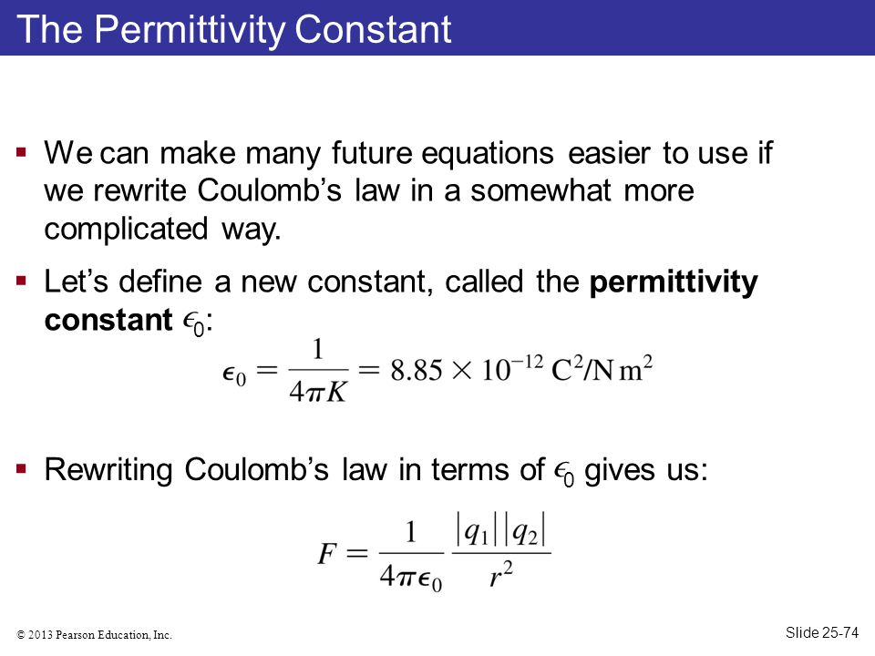 The Permittivity Constant