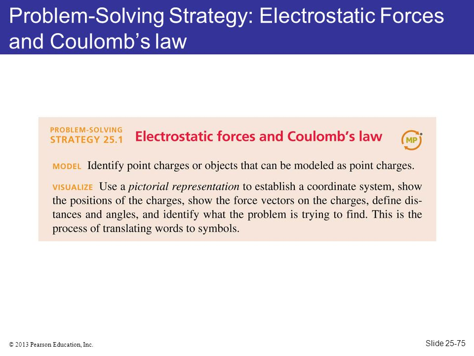 Problem-Solving Strategy: Electrostatic Forces and Coulomb's law