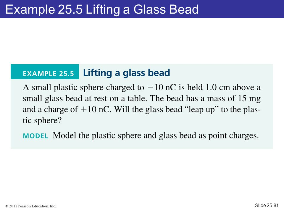 Example 25.5 Lifting a Glass Bead