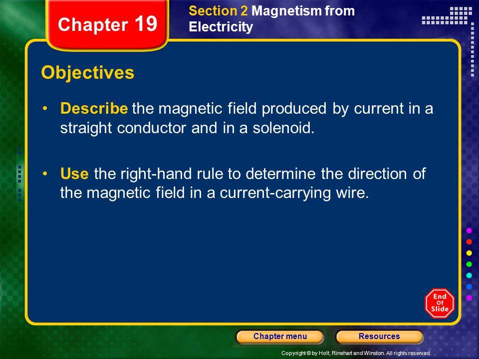 Section 2 Magnetism from Electricity