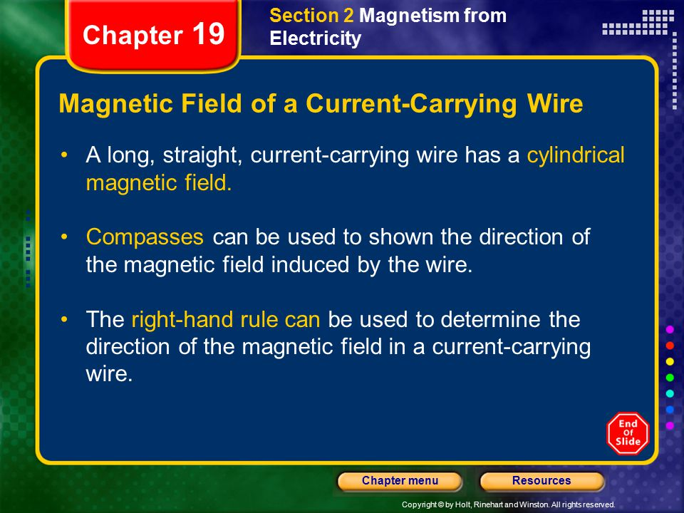 Magnetic Field of a Current-Carrying Wire