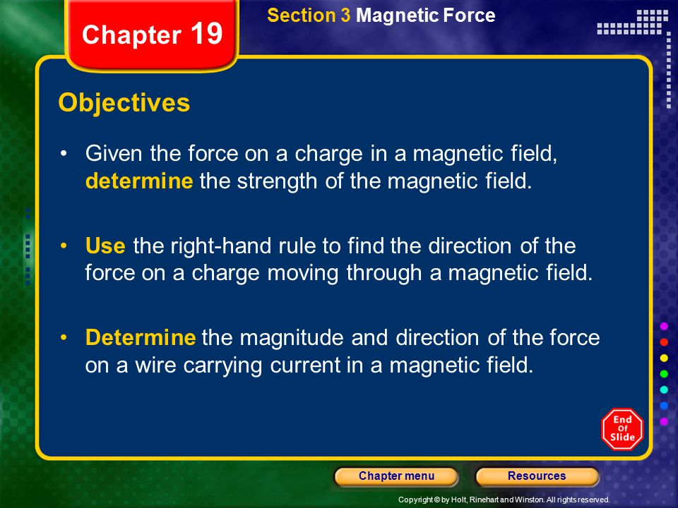 Section 3 Magnetic Force