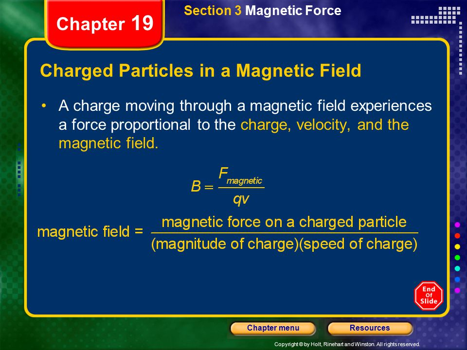 Charged Particles in a Magnetic Field