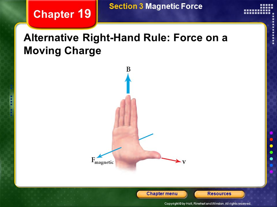 Alternative Right-Hand Rule: Force on a Moving Charge