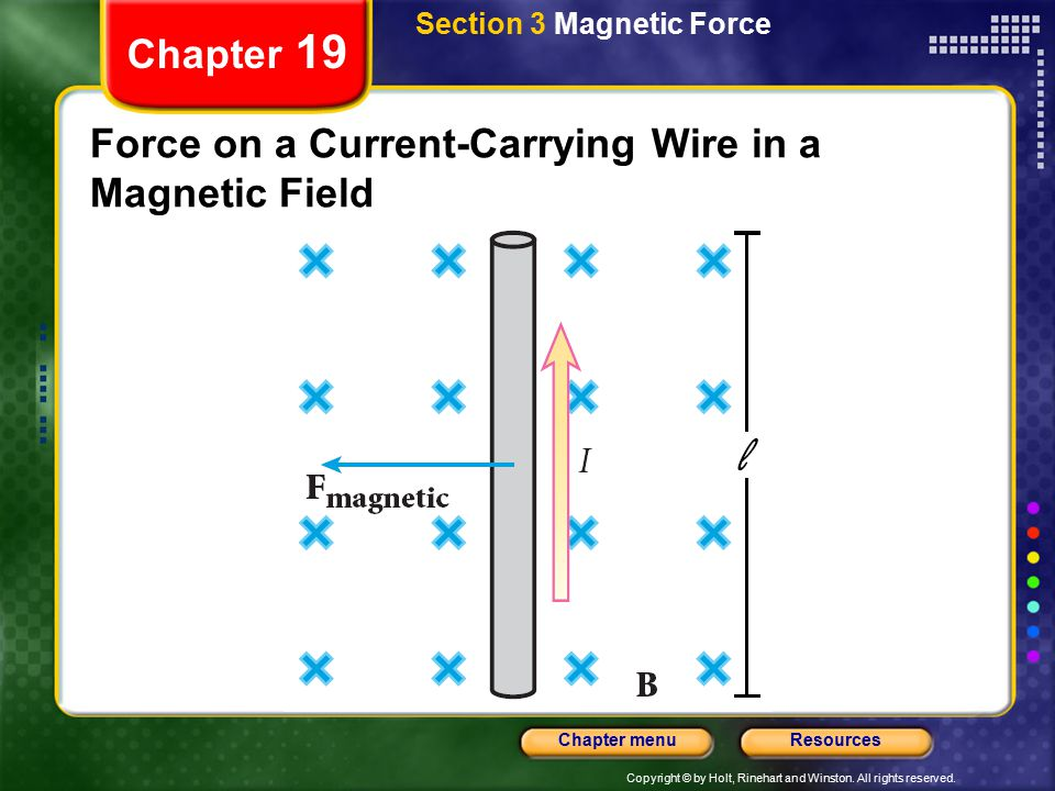Force on a Current-Carrying Wire in a Magnetic Field