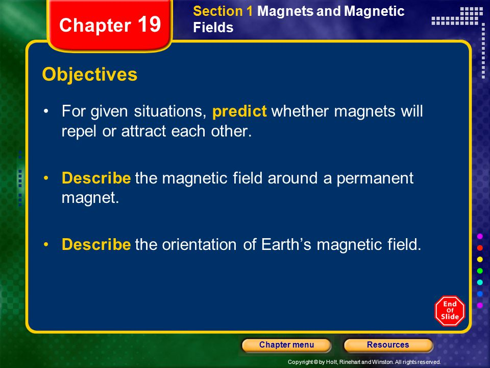Section 1 Magnets and Magnetic Fields