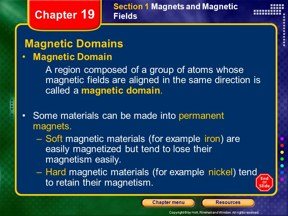 Chapter 19 Magnetic Domains Magnetic Domain