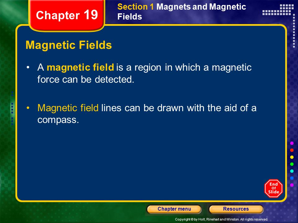 Chapter 19 Magnetic Fields