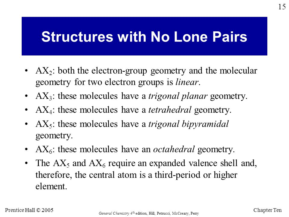 Structures with No Lone Pairs