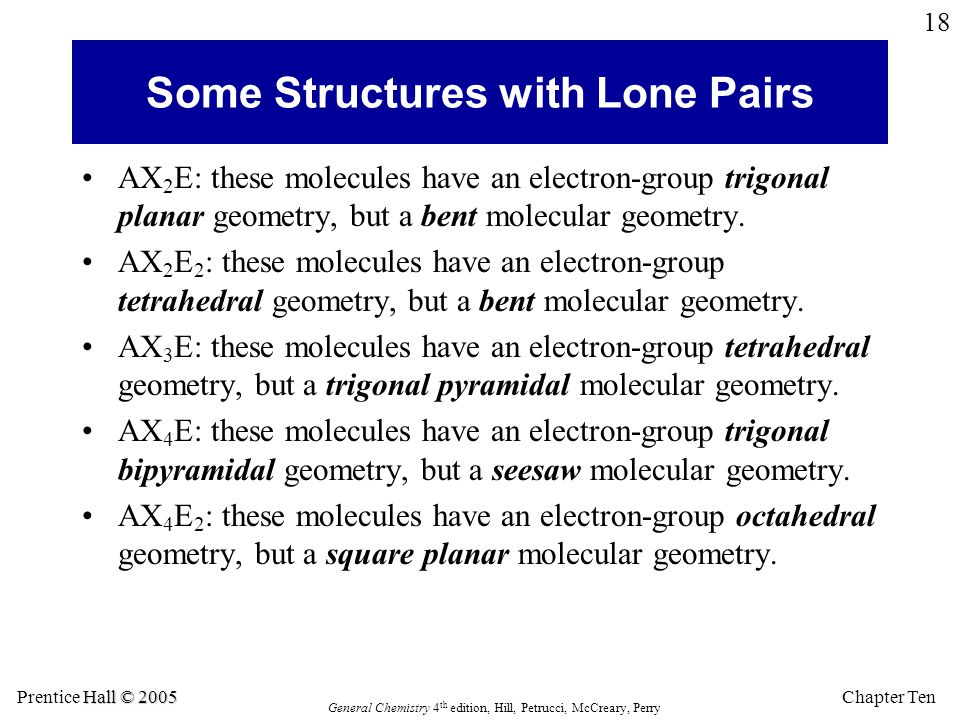 Some Structures with Lone Pairs