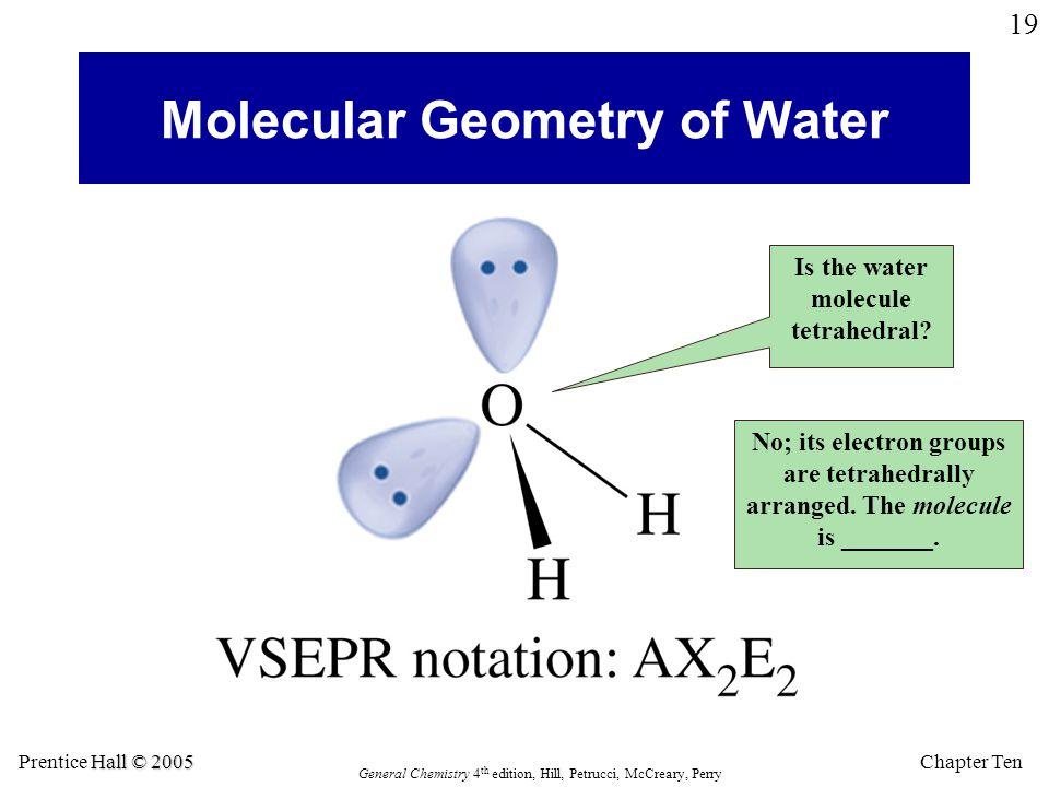 Molecular Geometry of Water
