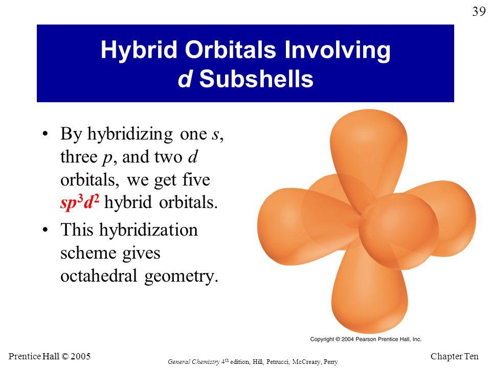 Hybrid Orbitals Involving d Subshells