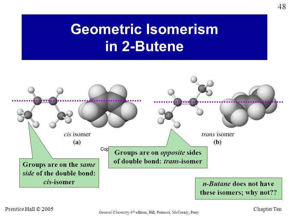 Geometric Isomerism in 2-Butene
