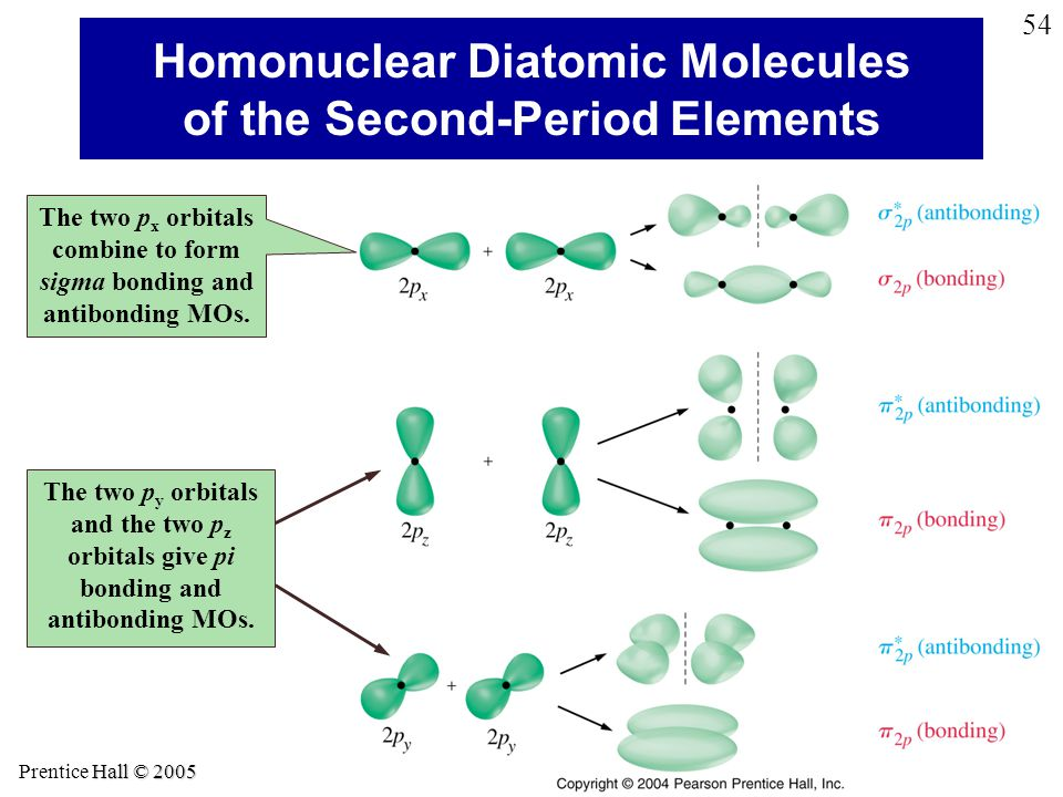 Homonuclear Diatomic Molecules of the Second-Period Elements