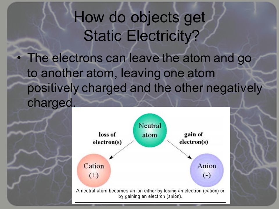 How do objects get Static Electricity
