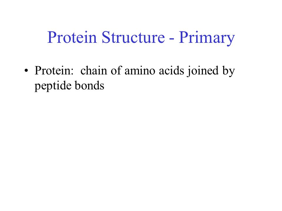 Protein Structure - Primary