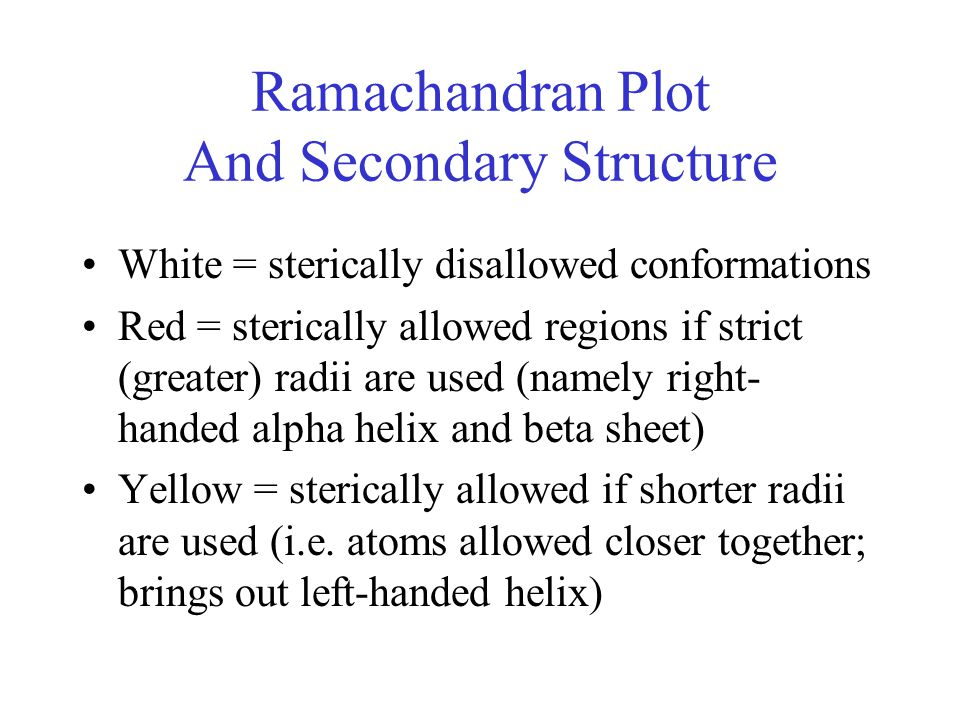 Ramachandran Plot And Secondary Structure