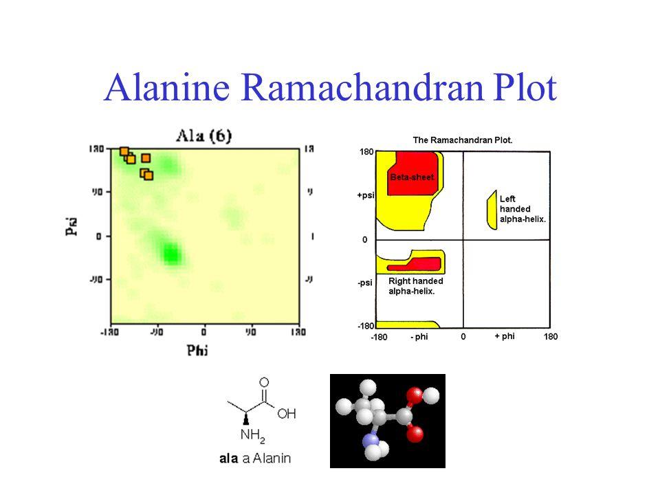 Alanine Ramachandran Plot