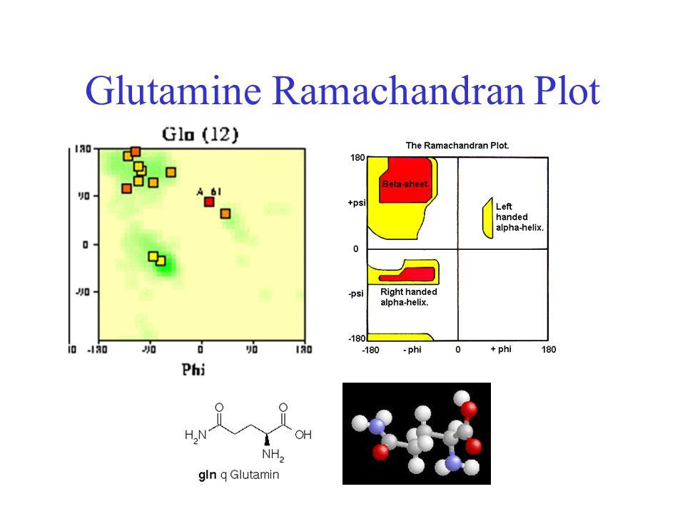Glutamine Ramachandran Plot