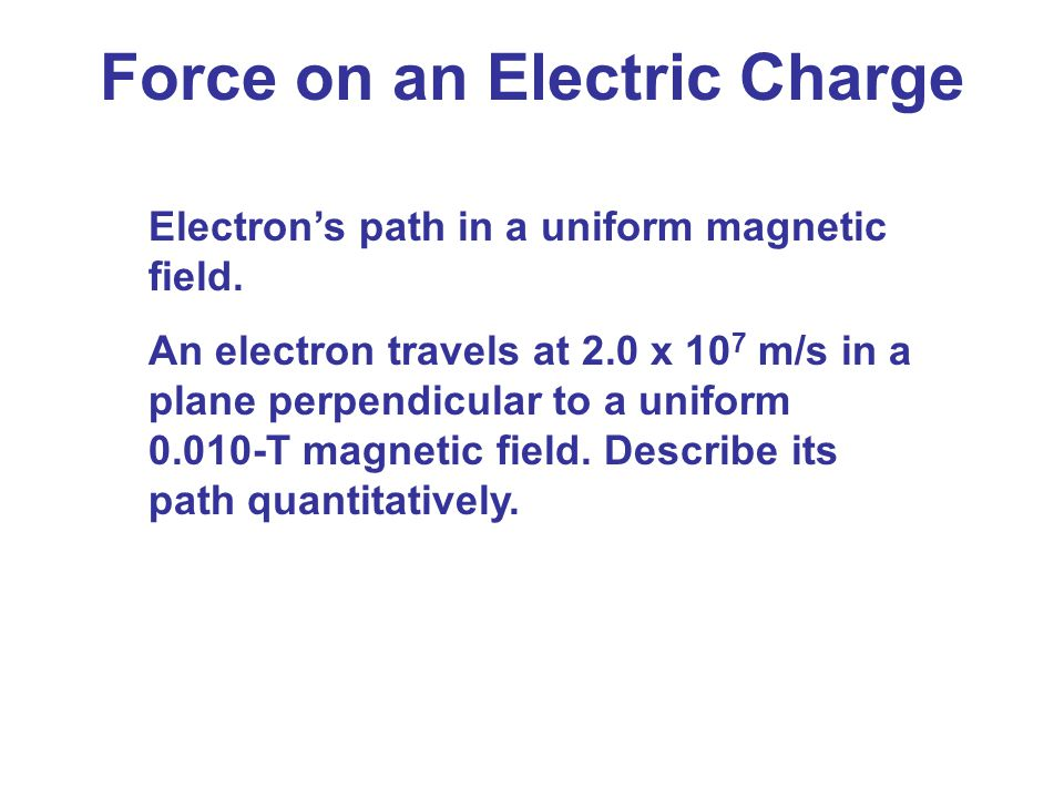 Force on an Electric Charge