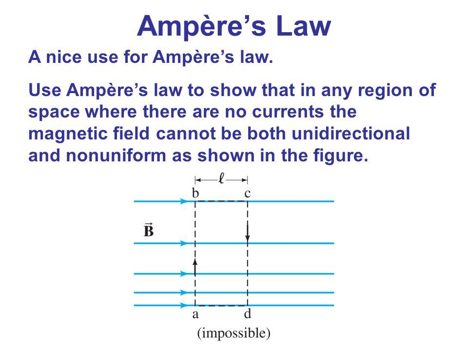 Ampère's Law A nice use for Ampère's law.