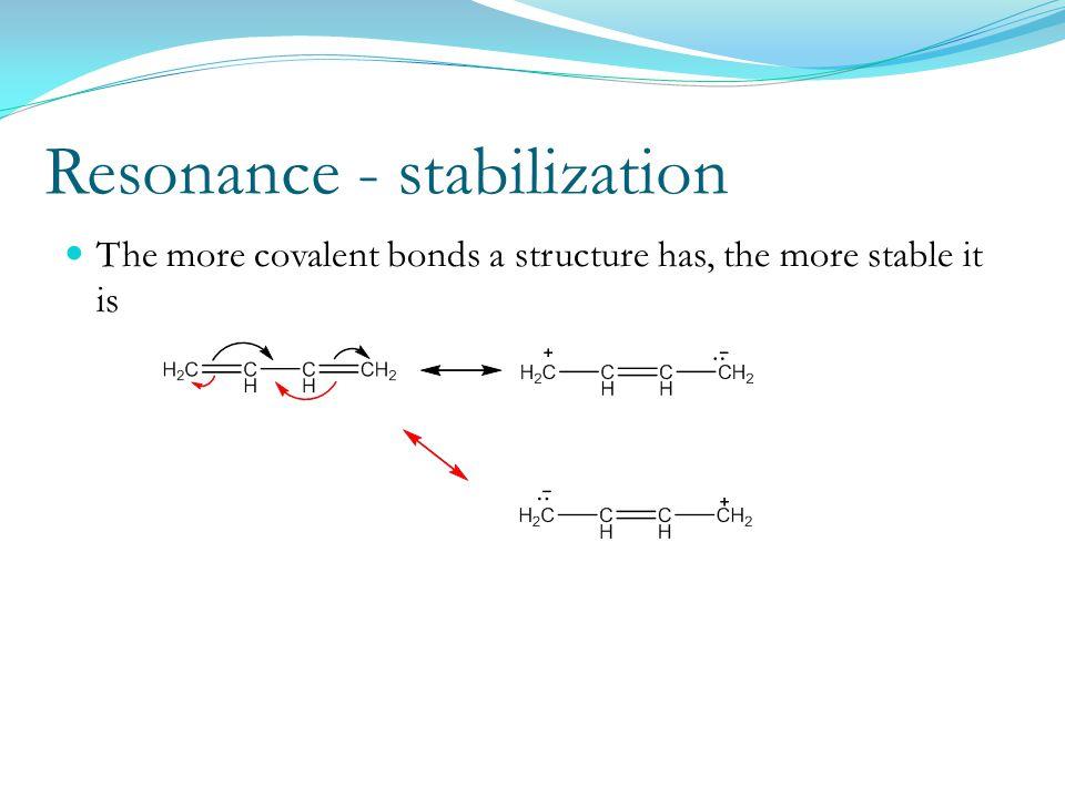 Resonance - stabilization