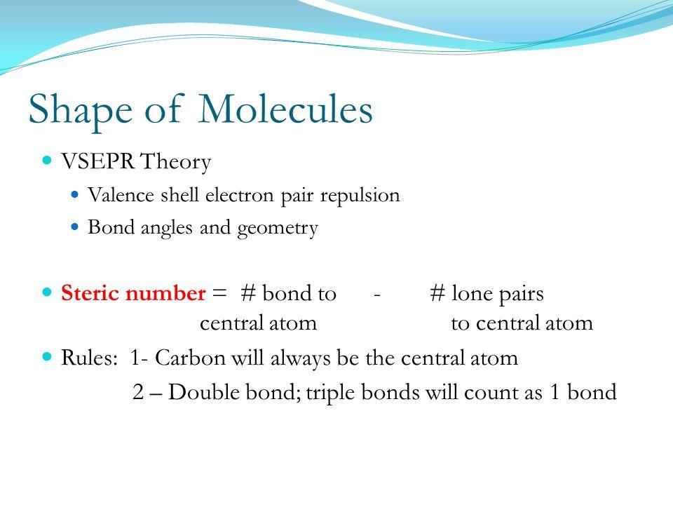 Shape of Molecules VSEPR Theory
