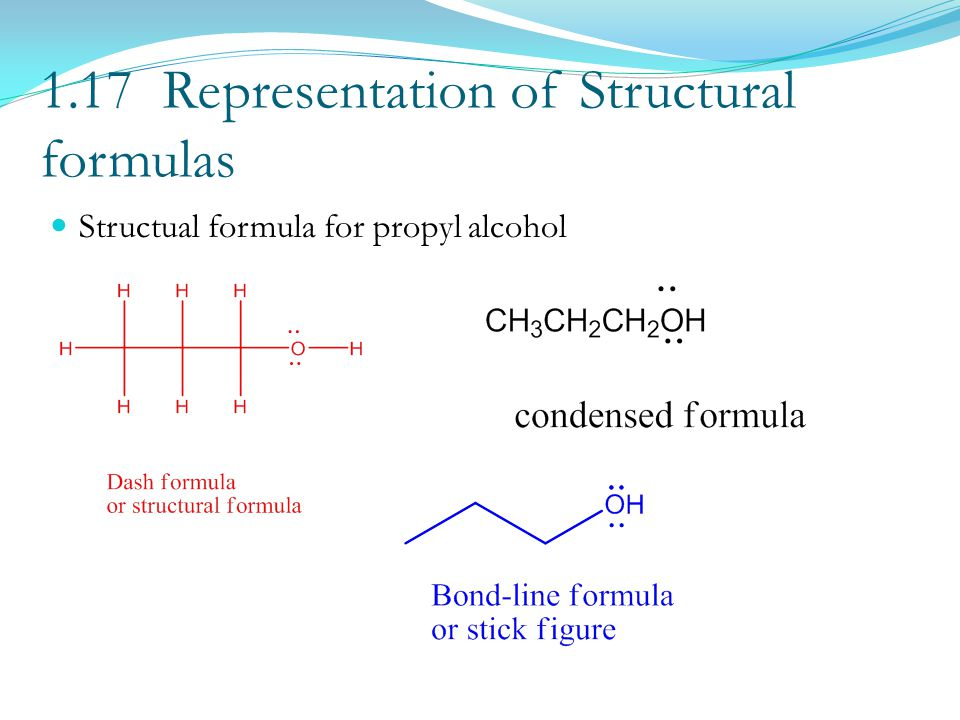 1.17 Representation of Structural formulas