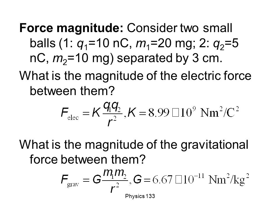 What is the magnitude of the electric force between them