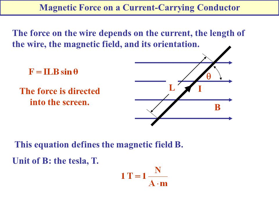 Magnetic Force on a Current-Carrying Conductor