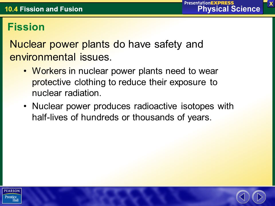 Nuclear power plants do have safety and environmental issues.