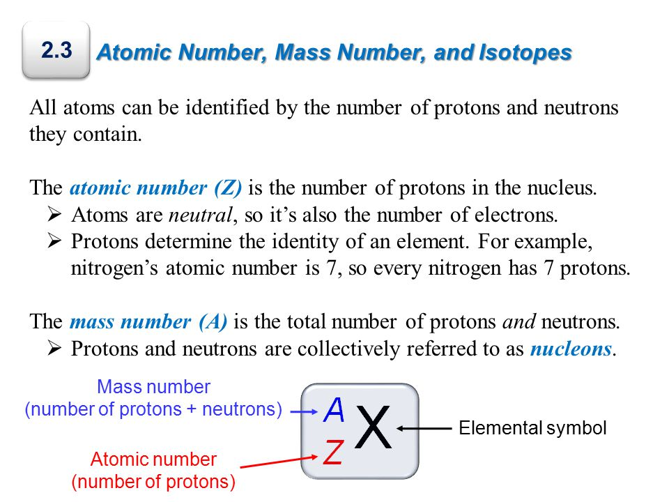 Atomic Number, Mass Number, and Isotopes