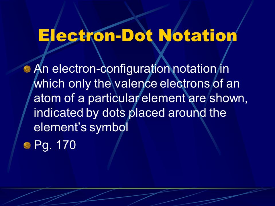Electron-Dot Notation