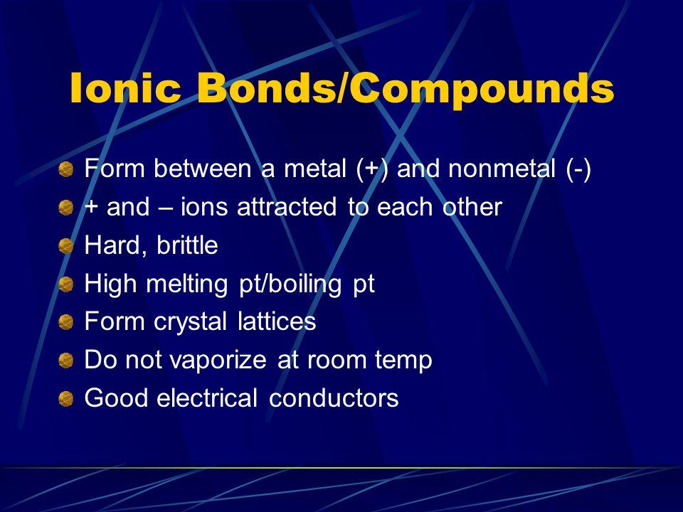 Ionic Bonds/Compounds