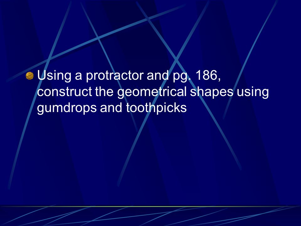 Using a protractor and pg