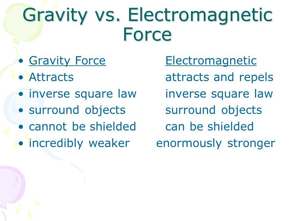 Gravity vs. Electromagnetic Force