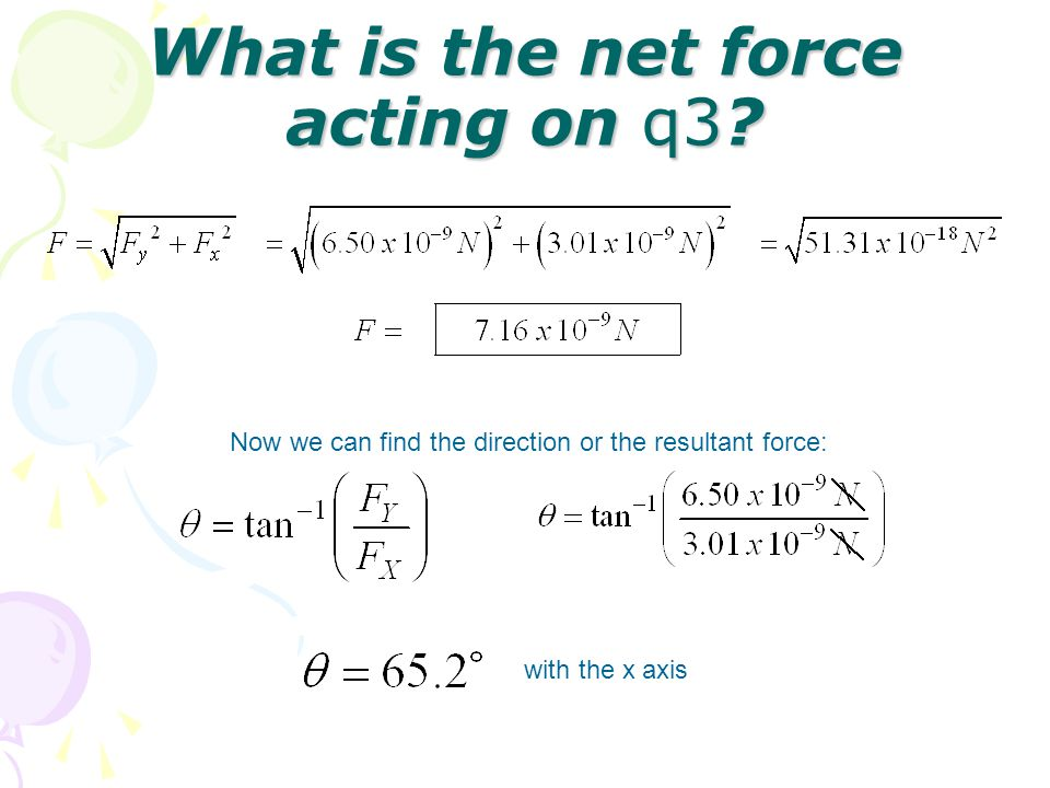 What is the net force acting on q3