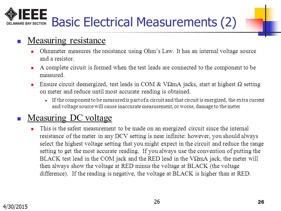 Basic Electrical Measurements (2)