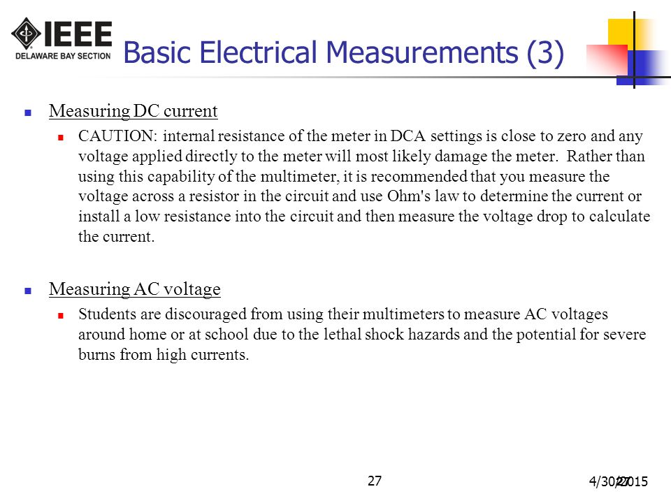 Basic Electrical Measurements (3)