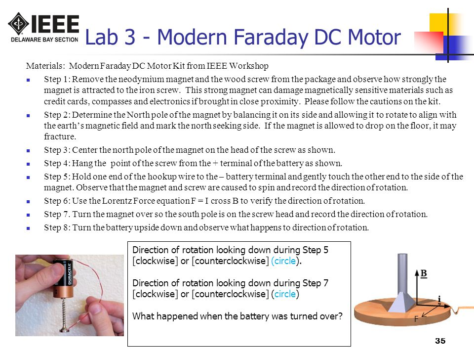 Lab 3 - Modern Faraday DC Motor