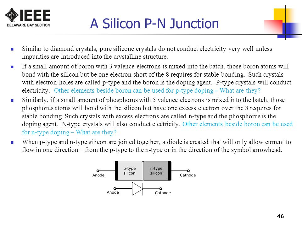 A Silicon P-N Junction