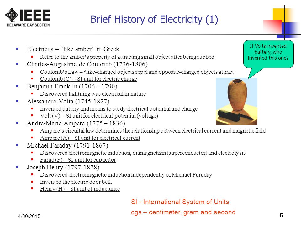 Brief History of Electricity (1)