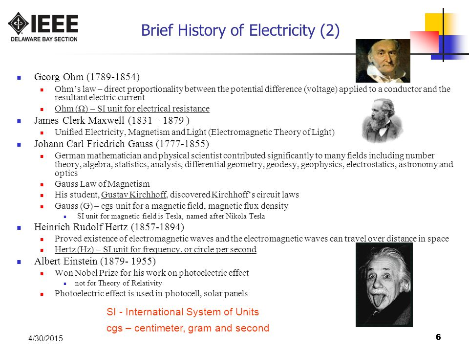Brief History of Electricity (2)