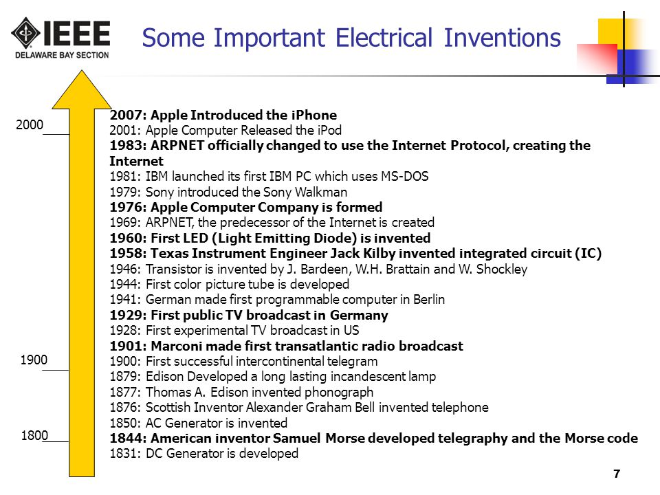 Some Important Electrical Inventions
