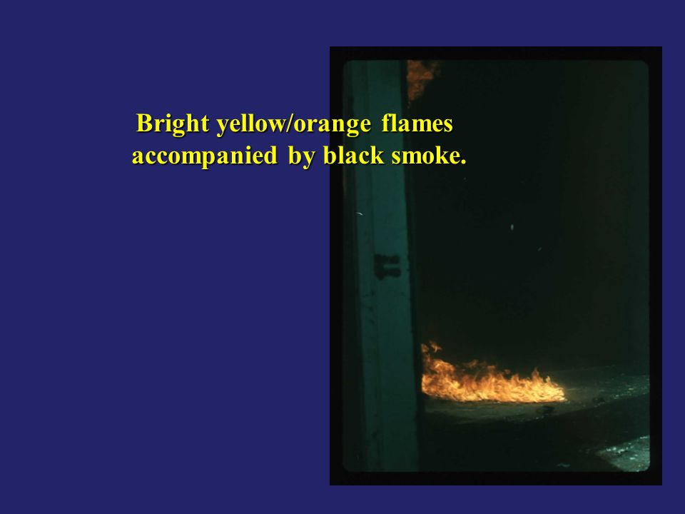 Bright yellow/orange flames accompanied by black smoke.