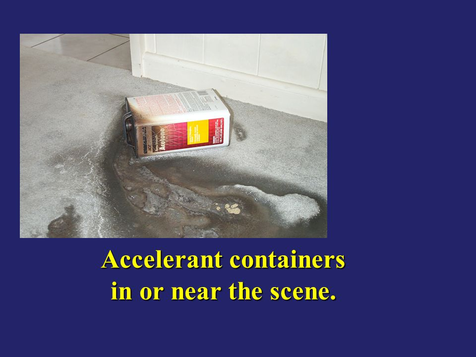 Accelerant containers