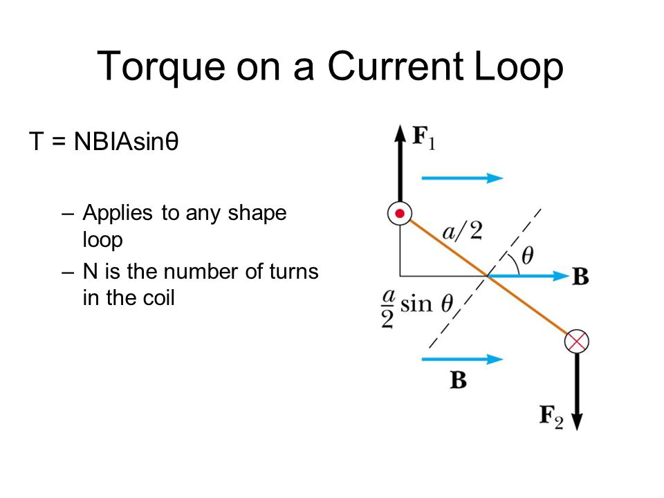 Torque on a Current Loop