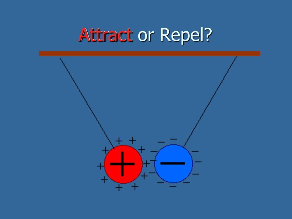 Attract or Repel Attract